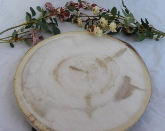 Large Wood Slice - 14 Inch - Wood Cake Plate - Wedding Cake Stand