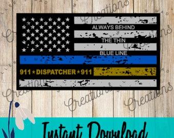 Back the Blue Flag Svg, 911 Dispatcher Svg, Thin Yellow Line Svg, Blue Lives Matter Svg, Flag Svg, Cop Lives Matter Svg, Thin Blue Line Svg