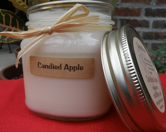Candied Apple Soy Candle - Vintage Style Mason Jar