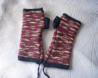Knit Gloves- Multi colored Fingerless Gloves