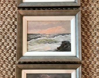 Trio of Miniature Seascapes II