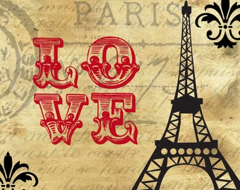 Love Paris Print