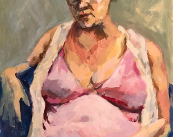 Original OOAK portrait painting
