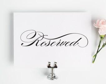 Wedding Reserved Sign