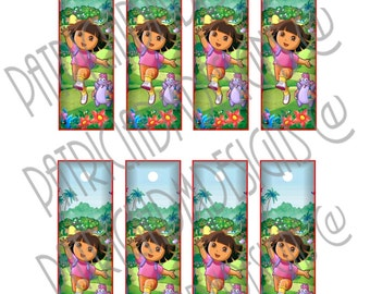 Dora The Explorer Bookmarks -Set of 8  Printable Images / Digital Download Printable