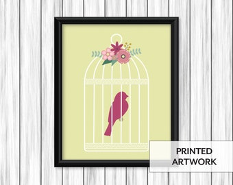 Floral Birdcage Print
