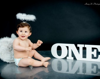 Birthday photo prop, First Birthday ONE photo prop wooden one sign, number one, Wooden Number Prop, word one  for photos,  1st  birthday