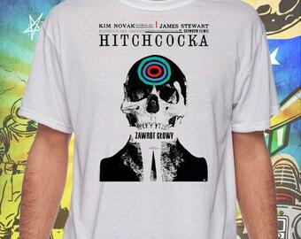 Vertigo Movie Poster on Jerzees Men's Performance White Tee Shirt