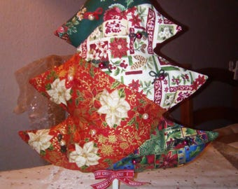 HANDMADE Christmas tree deco patch red/green