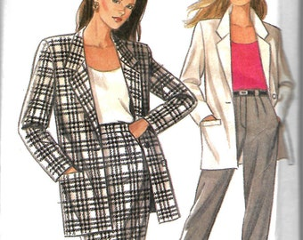 New Look 6208 Misses Suit Pattern, Jacket, Skirt And Trousers, Size 12-24, UNCUT