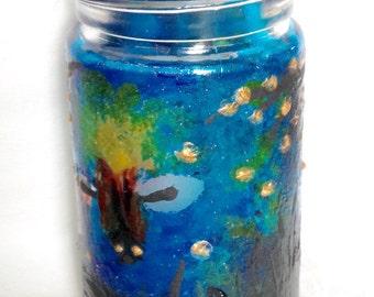 Firefly jar candleholder