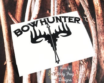 Deer Skull Decal Etsy - Hunting decals for truckshuntingfishing window decals in white or camouflage at woods