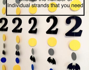 Bat Birthday Decorations- 1st , 2nd , 3rd birthday decorations, boys birthday , Bat Garland- Bat Birthday banner- Bat Themed Party Decor-