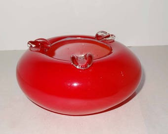 Red Art Glass Ashtray Home and Garden Smoking Accessories Ashtrays
