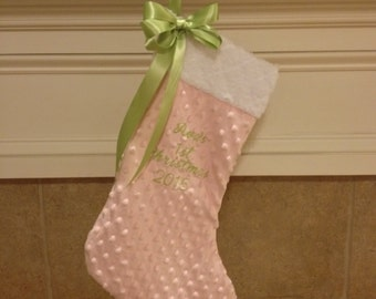 Personalized Baby's First Christmas Stocking - Baby's 1st Christmas Stocking