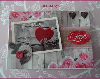 "card Valentine ""LOVE"""