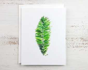Tropical Leaf - Fern Frond Note Card
