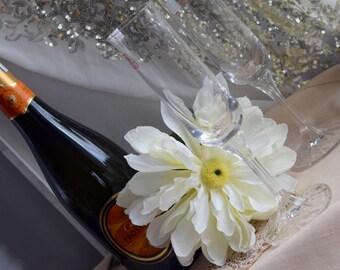 Italian Cristalleria di firenze champagne toasting flutes