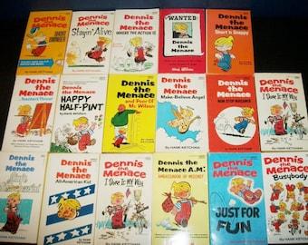 Vintage Dennis the Menace Fawcett Books Lot of 17 Comics