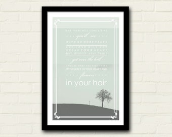 Mumford And Sons Lyrics Poster 11 X 17 After The Storm Lyrics, Art Print, Green, Home Decor