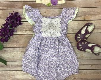 Baby girl romper, Baby romper,  Girl romper, Baby girl suit, Vintage baby clothes, Summer romper, Bubble romper, Girls romper, baby bubble