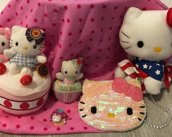 Cute set of Hello Kitty collectibles