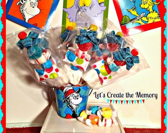 12 Dr. Seuss Candy Kabobs....Dr. Seuss Party Decor....Dr. Seuss Candy Treats