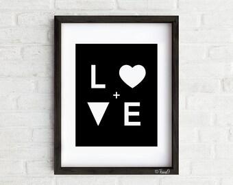 Love Letters Art Print, Modern Love Wall art
