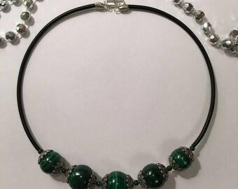 necklace malachite