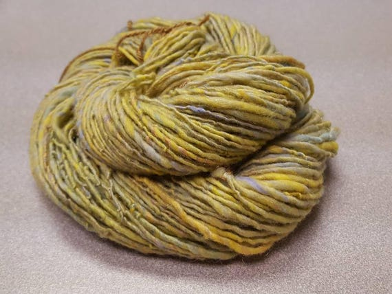 Handspun Art Yarn - Unique and Funky from a Mix of Luxury Fibers
