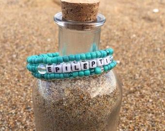 Custom medical bracelet - Medical Id - ID Bracelet - Safety Bracelet - Emergency Bracelet - Safety Jewelry - Medic Alert Bracelet