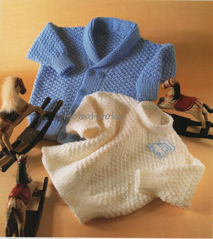 Baby toddler childs shawl collar cardigan knitting pattern pdf
