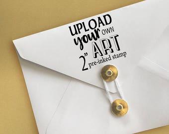 "Upload Your Own Art 2"" Stamp Logo Stamp"