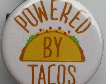 """Funny """"Powered By Tacos"""" badge reel"""