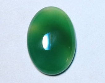 Natural Green Onyx Smooth Cabochon, Oval Shape Size 28 X 19 mm, 31Cts Loose Gemstone For Jewelry Making #2106