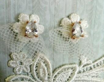 romantic bridal earrings