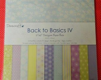 """Back to Basics 12"""" x 12"""" Designer Paper Pack 36 Sheets (3 sheets of 12 designs) Acid & Lignin free   150gsm"""