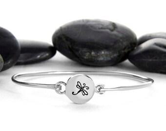 Dragonfly Bracelet, Dragonfly Jewelry, Bracelet, Silver Dragonfly, Silver, Silver Bracelet, Dragonfly Charm, Gift For Her, Charm Bracelet