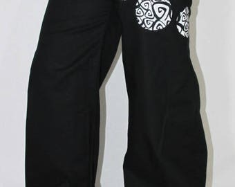 Large spiral comma pants made to measure