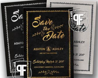 Save the Date Postcards - Wedding Announcement - Chalkboard Save the Date Postcard - Save the Date Templates