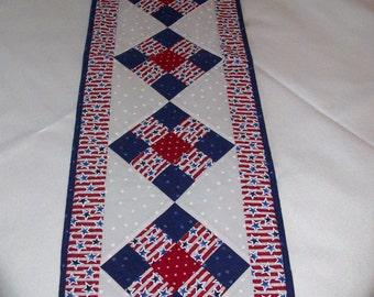 Patriotic Long Table Runner - Stars and Stripes