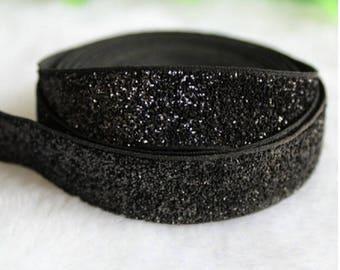 3.5 meters of lame black ribbon width 1 cm