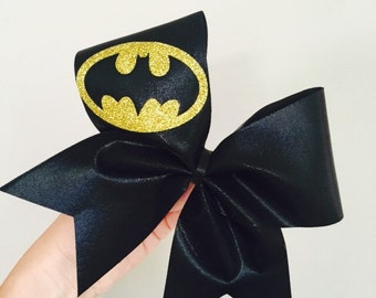Deluxe black and gold Batman Cheer bow