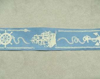 Ribbon Fantasy-4 cm - sky blue & white