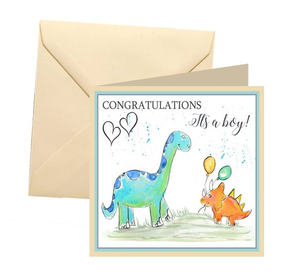 New baby boy card new baby greetings card its a boy card m4hsunfo