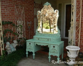 makeup vanity for custom order shabby chic painted distressed
