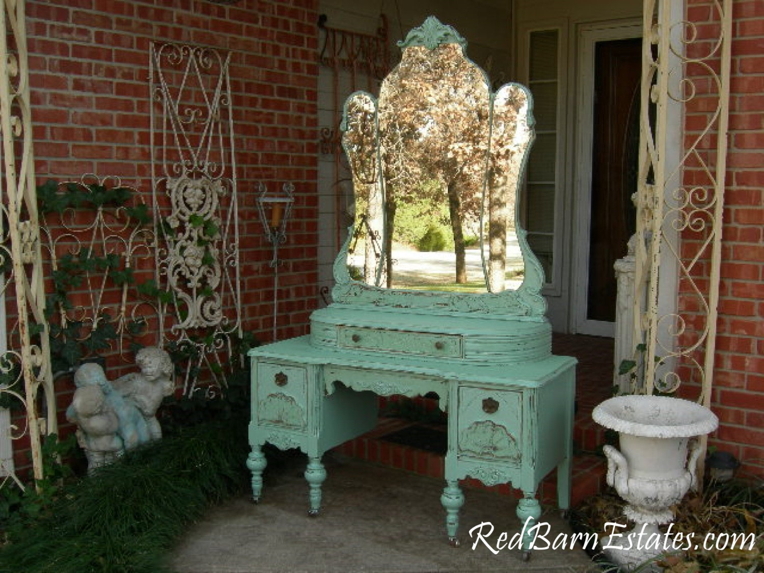 🔎zoom - MAKEUP VANITY Custom Order An Antique Dresser Shabby Chic