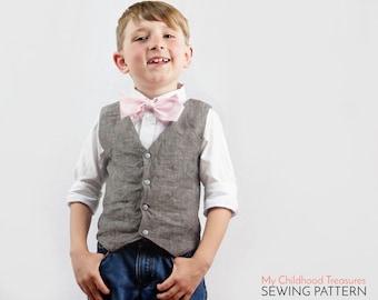 Boys VEST Pattern, Toddler vest pattern, Boys Sewing Pattern pdf, Vest Pattern, Waistcoat Pattern, Girls Vest Pattern, Vest Sewing Pattern