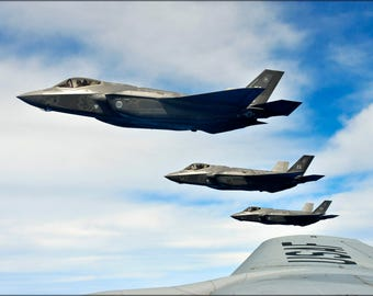 Poster, Many Sizes Available; U.S. Air Force F-35A Lightning Ii 58Th Fighter Squadron