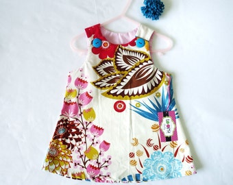 Garden Baby Girl Dress - Toddler Dress - Baby Dress- Girl Outfit- Baby Outfit 6M - 3T